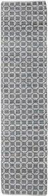 Elna - グレー 絨毯 80X350 モダン 手織り 廊下 カーペット 薄い灰色/紫 (綿, インド)