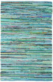Ronja - グリーン Mix 絨毯 140X200 モダン 手織り ターコイズブルー/水色 (綿, インド)