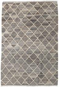 キリム Ariana 絨毯 128X189 モダン 手織り 薄い灰色/濃いグレー (ウール, アフガニスタン)