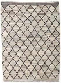 キリム Ariana 絨毯 134X181 モダン 手織り 薄い灰色/濃いグレー (ウール, アフガニスタン)