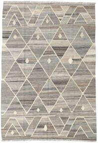 キリム Ariana 絨毯 132X188 モダン 手織り 薄い灰色 (ウール, アフガニスタン)