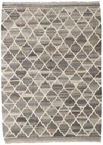 キリム Ariana 絨毯 135X186 モダン 手織り 薄い灰色/濃いグレー (ウール, アフガニスタン)