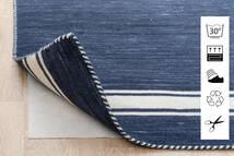 Anti Slip, Non-Woven 絨毯 240X340 モダン 青/薄い灰色 ( ベルギー)