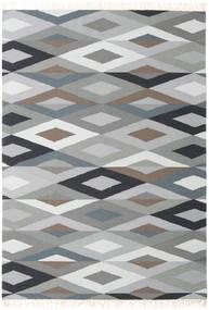 Zimba - グレー 絨毯 160X230 モダン 手織り 薄い灰色/濃いグレー (ウール, インド)