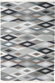 Zimba - グレー 絨毯 200X300 モダン 手織り 薄い灰色/ホワイト/クリーム色 (ウール, インド)