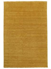 ハンドルーム Fringes - 黄色 絨毯 200X300 モダン 薄茶色/黄色 (ウール, インド)