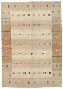 ギャッベ インド 絨毯 138X198 モダン 手織り 廊下 カーペット ベージュ/薄い灰色 (ウール, インド)