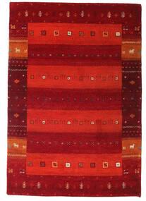 ギャッベ インド 絨毯 137X199 モダン 手織り 深紅色の/錆色/赤 (ウール, インド)