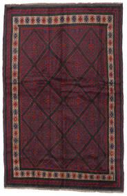 バルーチ 絨毯 150X235 オリエンタル 手織り 深紅色の/黒 (ウール, アフガニスタン)