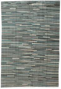キリム モダン 絨毯 163X248 モダン 手織り 濃いグレー/薄い灰色 (ウール, アフガニスタン)