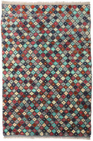 Moroccan Berber - Afghanistan 絨毯 204X298 モダン 手織り 濃いグレー/深紅色の (ウール, アフガニスタン)