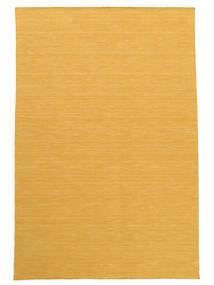 キリム ルーム - 黄色 絨毯 160X230 モダン 手織り 薄茶色/黄色 (ウール, インド)