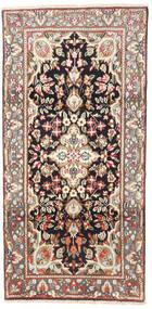 ケルマン 絨毯 95X190 オリエンタル 手織り 薄茶色/ベージュ (ウール, ペルシャ/イラン)
