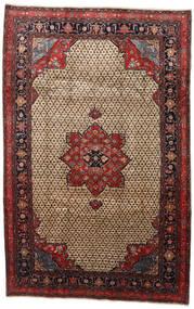 Songhor 絨毯 206X322 オリエンタル 手織り 薄茶色/黒 (ウール, ペルシャ/イラン)