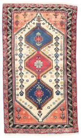 ヤラメー 絨毯 75X135 オリエンタル 手織り ベージュ/薄い灰色 (ウール, ペルシャ/イラン)