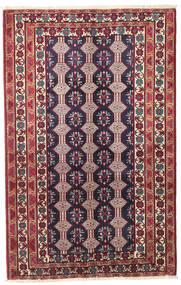 バルーチ パティナ 絨毯 132X206 オリエンタル 手織り 濃い紫/ベージュ (ウール, ペルシャ/イラン)
