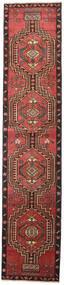 アルデビル パティナ 絨毯 81X385 オリエンタル 手織り 廊下 カーペット 深紅色の/黒 (ウール, ペルシャ/イラン)