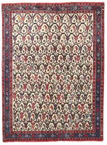 アフシャル/Sirjan 絨毯 127X168 オリエンタル 手織り 濃い茶色/ベージュ (ウール, ペルシャ/イラン)