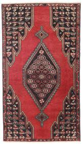 サべー パティナ 絨毯 98X176 オリエンタル 手織り 黒/深紅色の (ウール, ペルシャ/イラン)