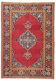 カシャン パティナ 絨毯 103X146 オリエンタル 手織り 錆色/深紅色の (ウール, ペルシャ/イラン)
