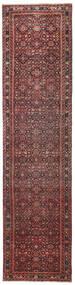 ホセイナバード パティナ 絨毯 79X317 オリエンタル 手織り 廊下 カーペット 深紅色の/濃い茶色 (ウール, ペルシャ/イラン)
