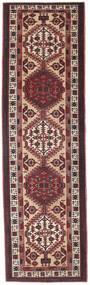 セーラ パティナ 絨毯 100X345 オリエンタル 手織り 廊下 カーペット 濃い茶色/深紅色の (ウール, ペルシャ/イラン)