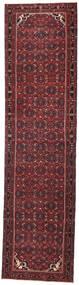 ハマダン パティナ 絨毯 105X410 オリエンタル 手織り 廊下 カーペット 深紅色の/黒 (ウール, ペルシャ/イラン)