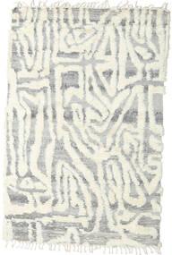 Barchi/Moroccan Berber - インド 絨毯 153X235 モダン 手織り 薄い灰色/ホワイト/クリーム色/ベージュ (ウール, インド)