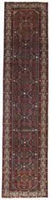 ハマダン パティナ 絨毯 78X340 オリエンタル 手織り 廊下 カーペット 濃い茶色/深紅色の (ウール, ペルシャ/イラン)
