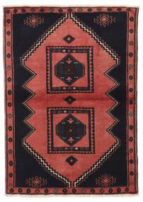 クラルダシュト 絨毯 103X149 オリエンタル 手織り 黒/深紅色の (ウール, ペルシャ/イラン)