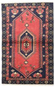 クラルダシュト 絨毯 98X150 オリエンタル 手織り 赤/黒 (ウール, ペルシャ/イラン)