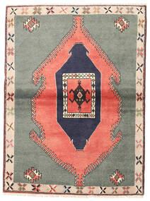 クラルダシュト 絨毯 105X140 オリエンタル 手織り 濃いグレー/ライトピンク (ウール, ペルシャ/イラン)