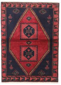 クラルダシュト 絨毯 105X140 オリエンタル 手織り 黒/赤 (ウール, ペルシャ/イラン)