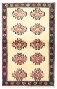 クラルダシュト 絨毯 97X150 オリエンタル 手織り ベージュ/黒 (ウール, ペルシャ/イラン)