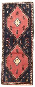 クラルダシュト 絨毯 75X190 オリエンタル 手織り 廊下 カーペット 濃いグレー/深紅色の (ウール, ペルシャ/イラン)