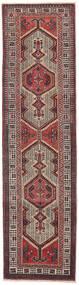 セーラ パティナ 絨毯 87X327 オリエンタル 手織り 廊下 カーペット 濃い茶色/茶 (ウール, ペルシャ/イラン)