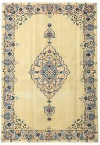 カシャン パティナ 絨毯 165X238 オリエンタル 手織り 暗めのベージュ色の/ベージュ (ウール, ペルシャ/イラン)