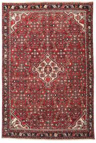 ハマダン パティナ 絨毯 135X202 オリエンタル 手織り 濃い茶色/赤 (ウール, ペルシャ/イラン)