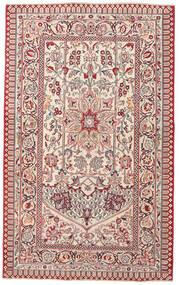 カシャン パティナ 絨毯 127X207 オリエンタル 手織り 薄い灰色/ベージュ (ウール, ペルシャ/イラン)