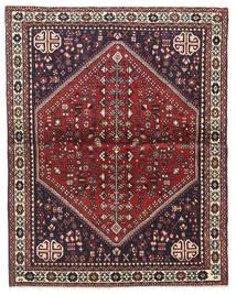 アバデ 絨毯 100X128 オリエンタル 手織り 濃い茶色/深紅色の (ウール, ペルシャ/イラン)