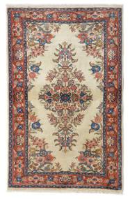 サルーク 絨毯 100X158 オリエンタル 手織り 深紅色の/暗めのベージュ色の (ウール, ペルシャ/イラン)