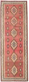 キリム ファーシュ 絨毯 155X460 オリエンタル 手織り 廊下 カーペット 深紅色の/濃い茶色 (ウール, ペルシャ/イラン)