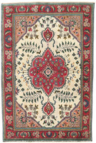 タブリーズ パティナ 絨毯 95X145 オリエンタル 手織り ベージュ/黒 (ウール, ペルシャ/イラン)