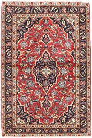 カシャン パティナ 絨毯 98X150 オリエンタル 手織り 濃いグレー/深紅色の (ウール, ペルシャ/イラン)