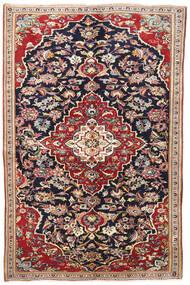 ヤズド 絨毯 145X220 オリエンタル 手織り 濃い紫/深紅色の (ウール, ペルシャ/イラン)