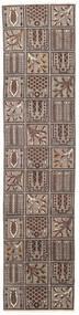 バクティアリ パティナ 絨毯 70X305 オリエンタル 手織り 廊下 カーペット 薄い灰色/濃い茶色 (ウール, ペルシャ/イラン)