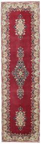 ケルマン パティナ 絨毯 90X325 オリエンタル 手織り 廊下 カーペット 深紅色の/ベージュ (ウール, ペルシャ/イラン)
