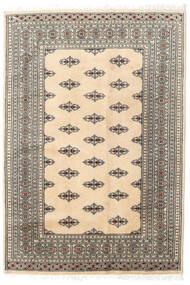 パキスタン ブハラ 2Ply 絨毯 127X185 オリエンタル 手織り ベージュ/薄い灰色 (ウール, パキスタン)