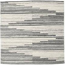 Zennia 絨毯 250X250 モダン 手織り 正方形 薄い灰色/暗めのベージュ色の 大きな (ウール, インド)