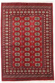 パキスタン ブハラ 2Ply 絨毯 125X185 オリエンタル 手織り 深紅色の (ウール, パキスタン)
